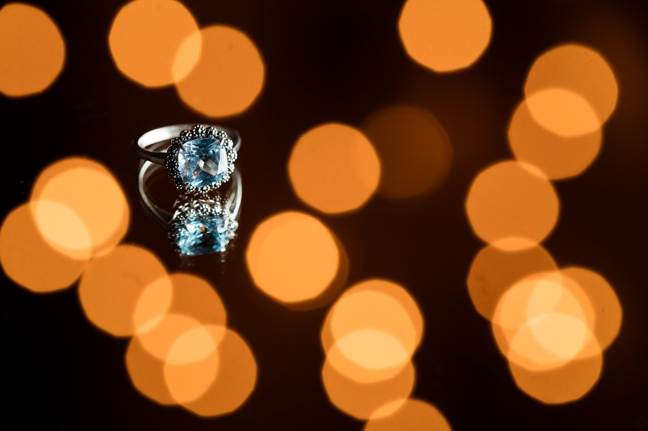 #vintage #engagement #ring #christmas #lights