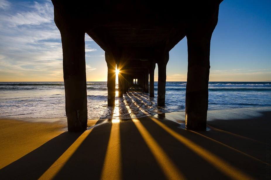 Sunset at the Manhattan Beach Pier.
