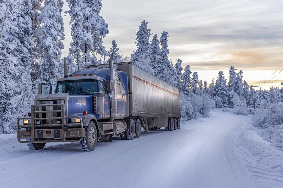 Western Star truck working hard in the Yukon, Canada