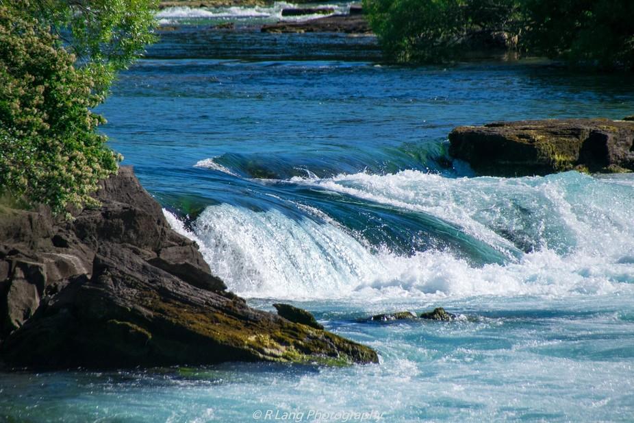 Water leading into the Huka Falls, Taupo