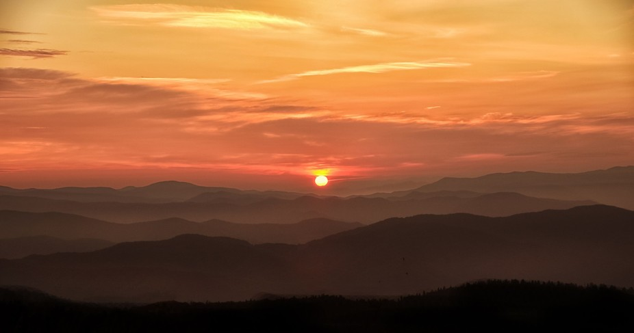 You just beat a good sunset, especially in the Smokey Mountains.