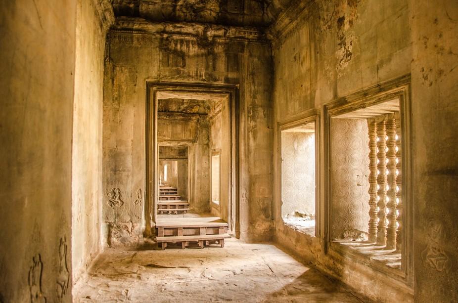 Inside the temples at Angkor Wat