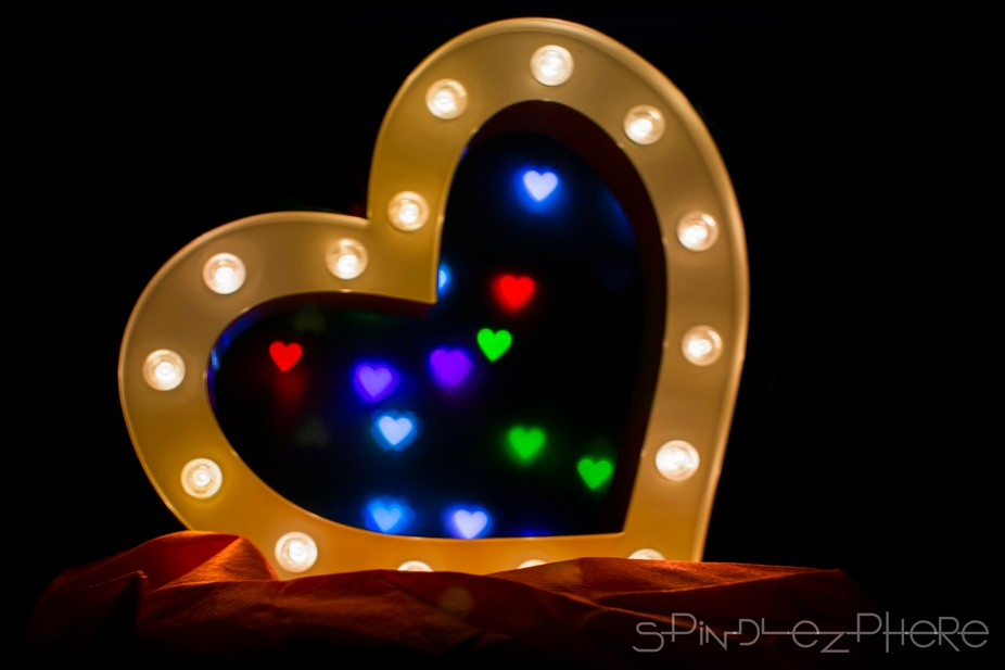 Marquee Bokeh Love