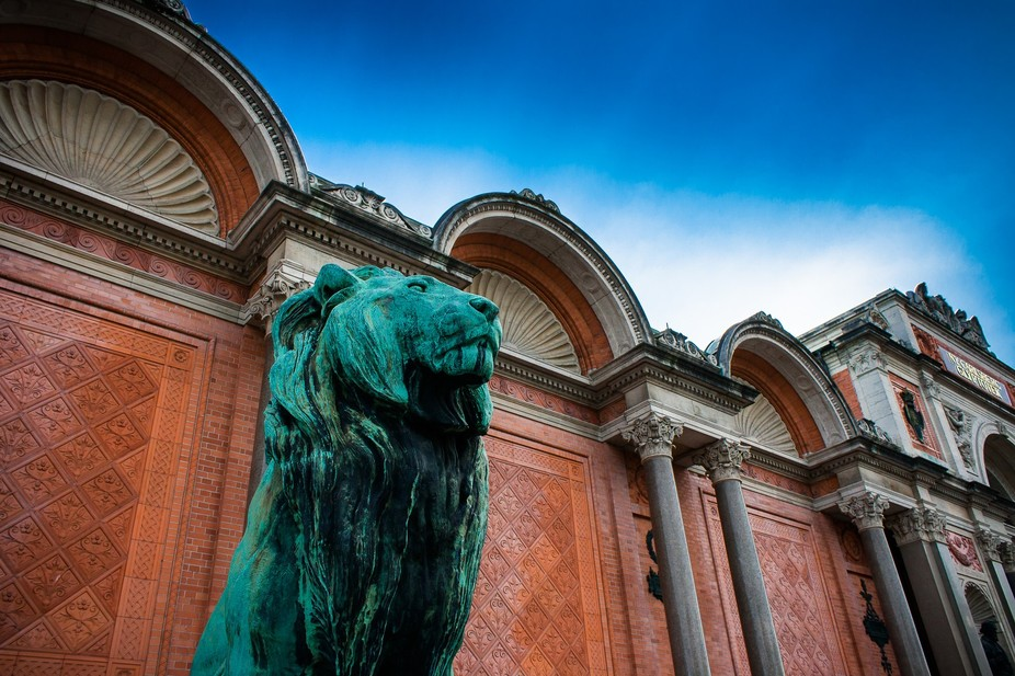 Outside the Ny Carlsberg Glyptotek, Copenhagen.