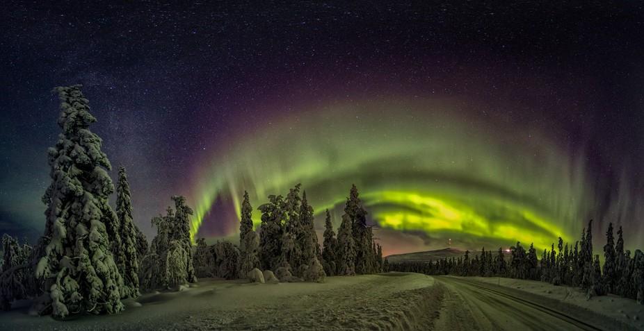 This panorama is taken in Pallas-Yllästunturi National Park - Finland