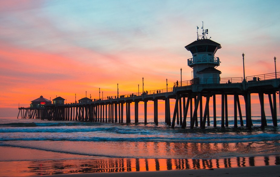 Winter Sunset At The Pier