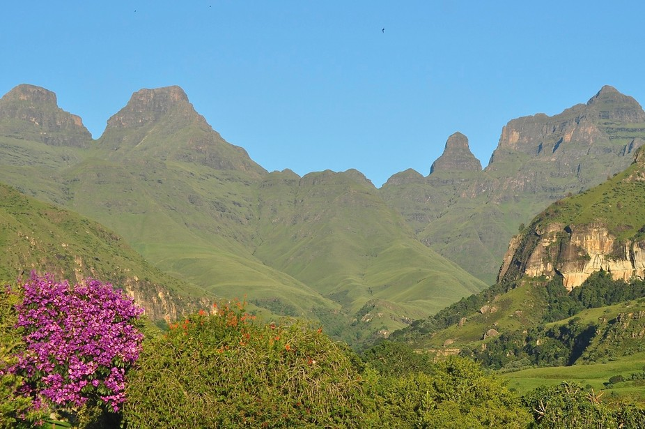 Cathedral Peak in the Drakensberg Mountains, South Africa - a World Heritage Site