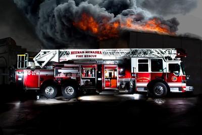 Firetruck Layout Design - Layers Merged - Building Fire final edit