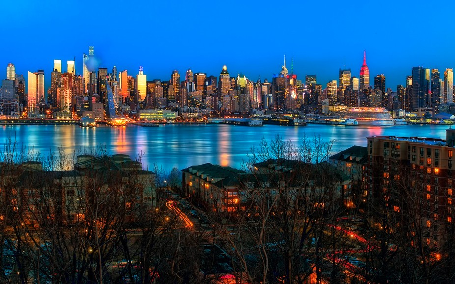 New York Skyline after sunset 2