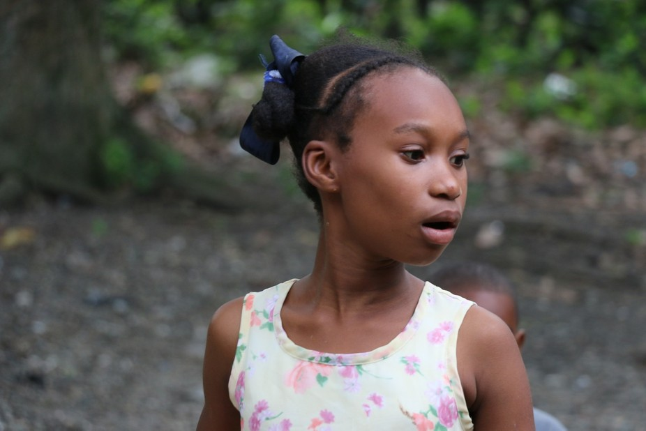 While in Haiti, my team and I built this girl and her family a home. Such a beautiful experience.
