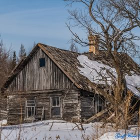 Old House in the forest in Eastern Manitoba
