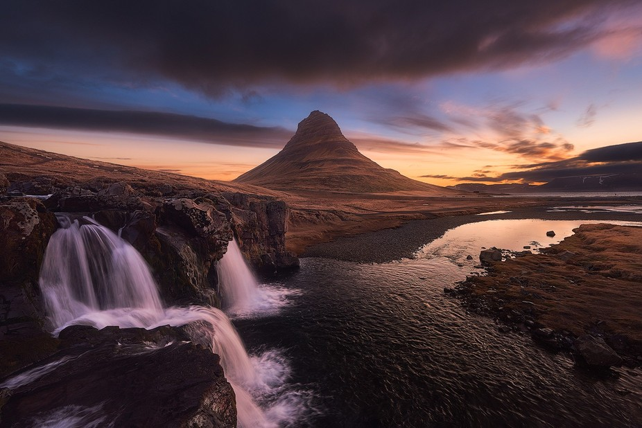 Kirkjufell or Church Mountain (Icelandic translation). This mountain must be the most popular one...