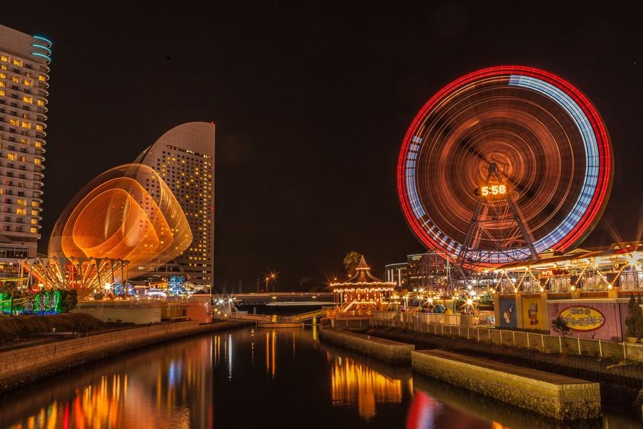 A very whimsical shot of Yokohama at night