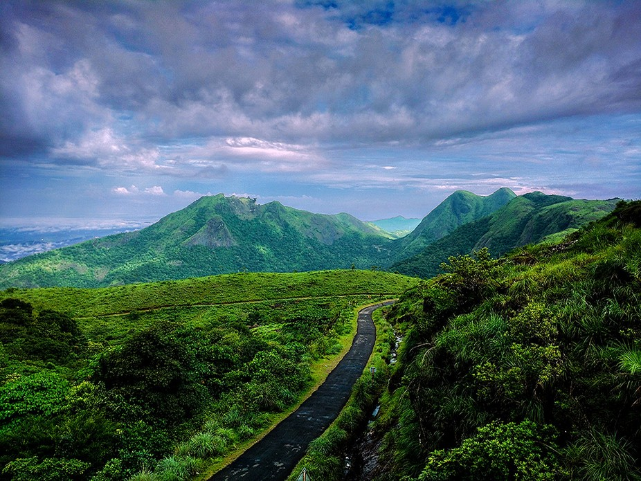green meadows at vagamon india, beautiful place for nature lovers