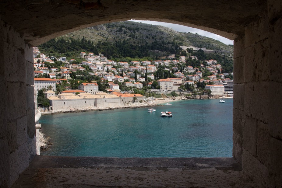 Through the city walls of Dubrovnik