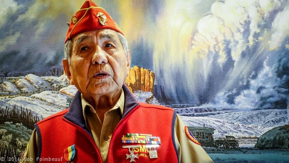 Peter MacDonald, Sr. one of the last surviving Navajo Code Talkers from World War II.