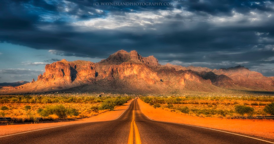 Superstition mountain.  Taken last August when the outside temps were 117!  It was late in the af...