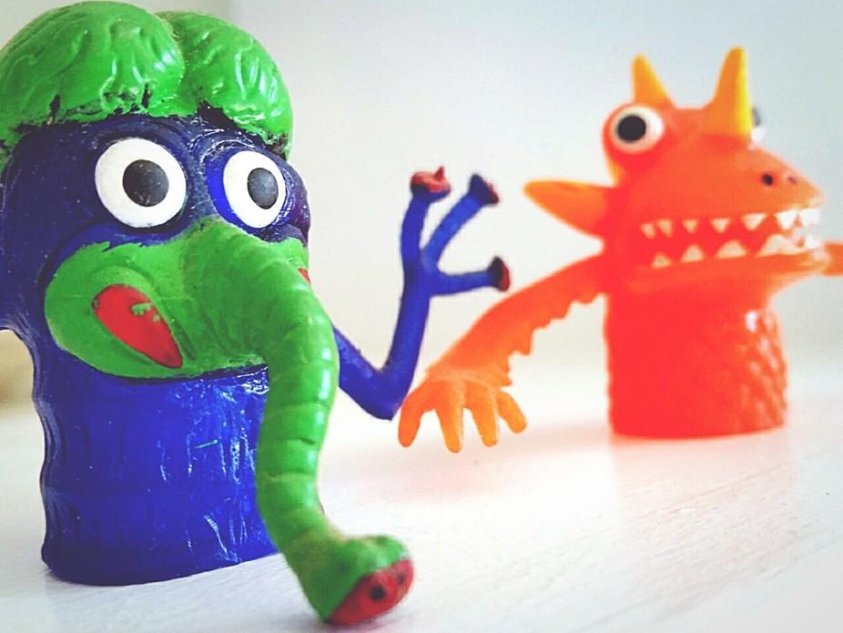 Monster finger puppets. .