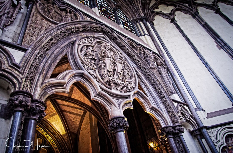 Within the oldest sections of Westminster Abbey, London, England