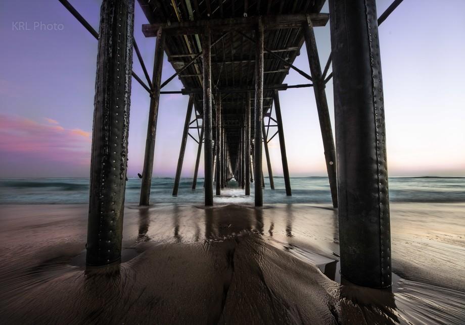 Image taken underneath the Oceanside Pier in SoCal.