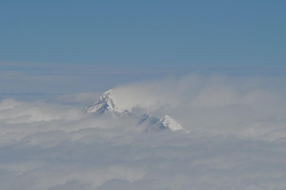 Flying above Everest