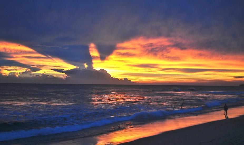 Sunset near Galle