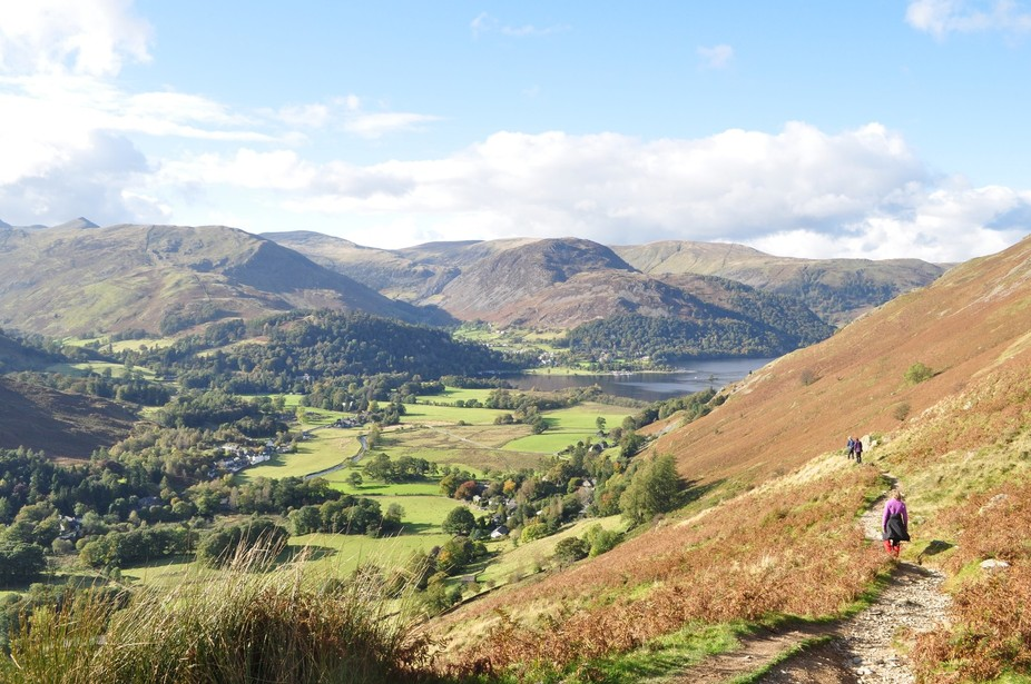 Descending from Angle Tarn into Patterdale