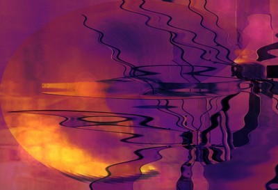 Abstract, 'Sunset Along The Canal'....