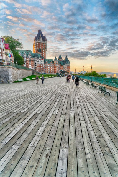 Governor's Boardwalk and Chateau Frontenac, Quebec City
