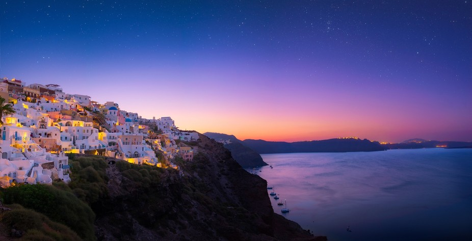 A new day begins in Oia.