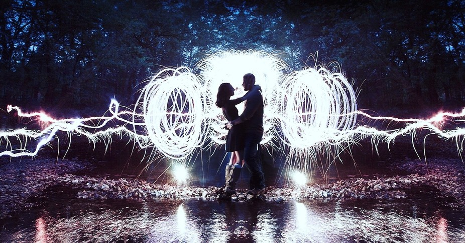Just shot his sparkler composite last night at an engagement shoot. Did it solo. Was very wet and...