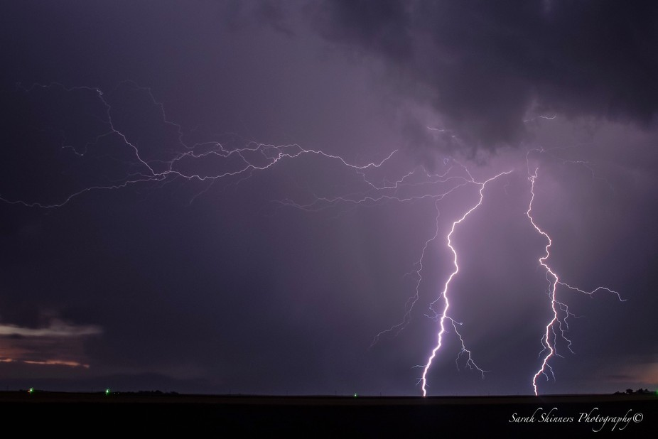 One of many amazing lightning shots I captured while storm chasing
