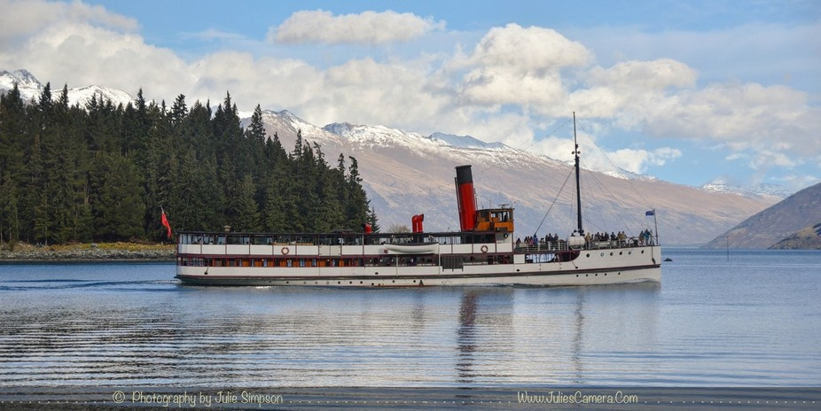 Queenstown, New Zealand, sits on the shores of the South Island's Lake Wakatipu, set against th...