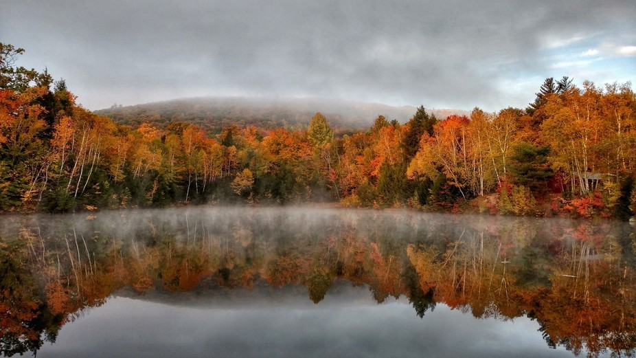 This was taken in the White Mountains, NH area. My wife and I went out for a morning walk near ou...