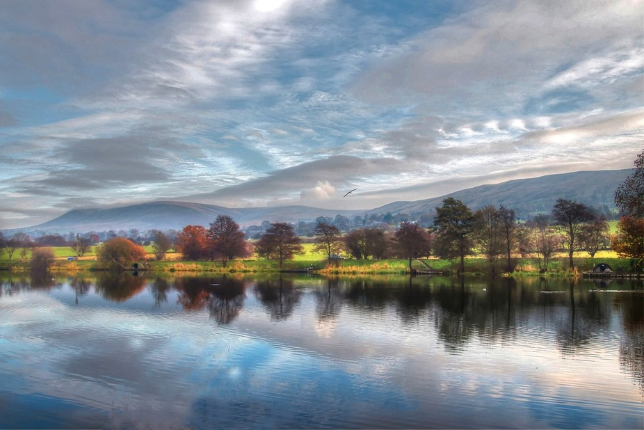 Taken at the fishing lake at the foot of Pendle Hill Lancashire UK