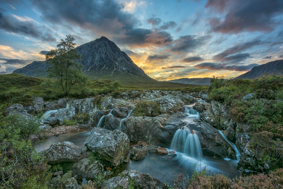 sunset at Buachaille Etive Mor - Scotland