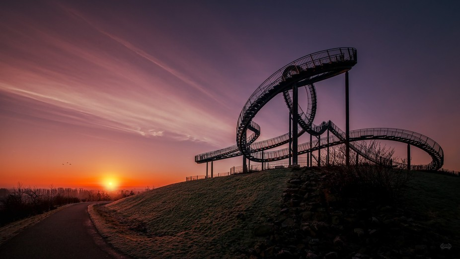 Tiger and Turtle – Magic Mountain is an art installation and landmark in Angerpark, Duisburg, G...