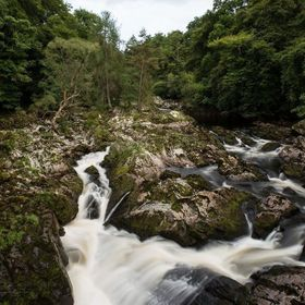 While traveling around Scotland we came across this hidden waterfall on some back roads.  People had gathered around on the bridge watching as a ...