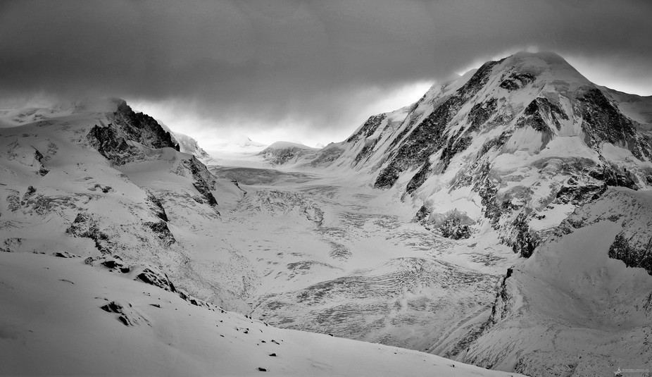 The Gorner Glacier early in the morning.