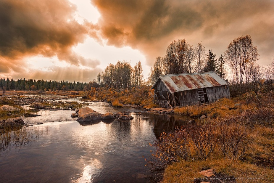 Found this broken down boathouse by the stream leading out to lake Yddin in Valdres in Norway. It...