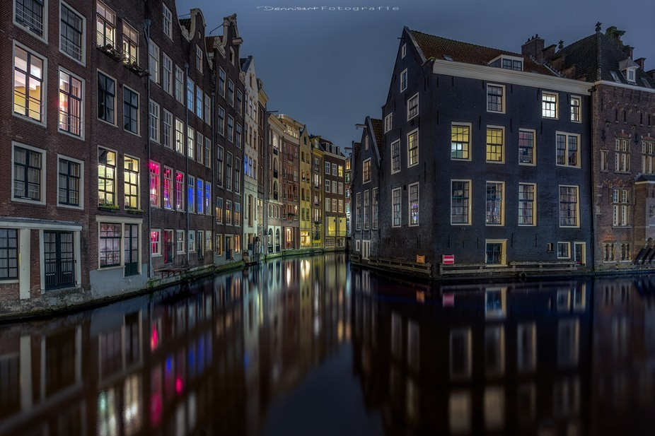 One of the famous spots in Amsterdam. For the water i have make 6 photo's for the reflec...