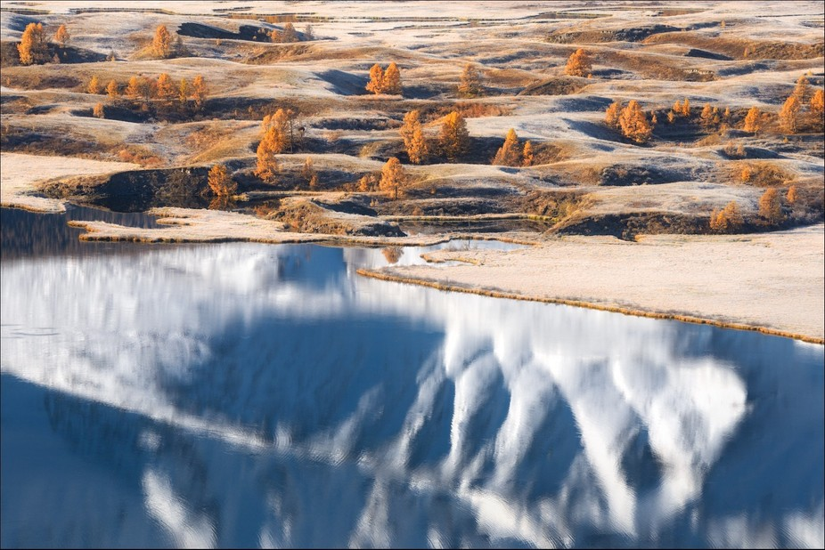 Lake Dzhangyskol', plateau Eshtykel', North-Chuya ridge. Altai Mountains, Russia.