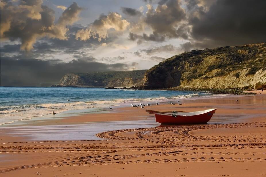 Red dinghy