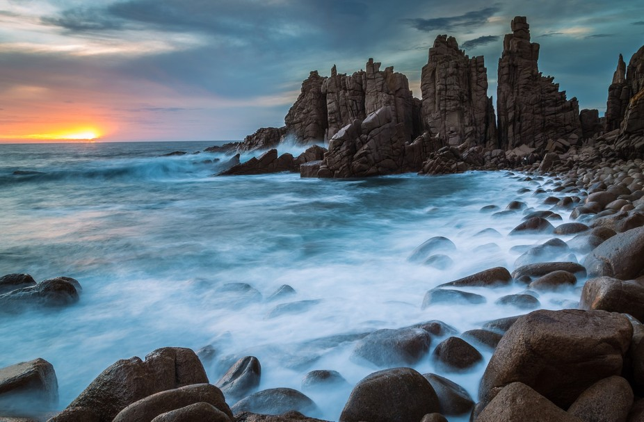 The pinnacles in Phillip Island