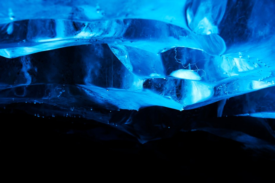 a roof of an ice cave