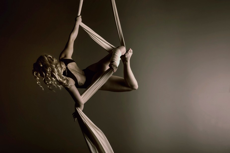 Chantelle is a professional aerial dance artist...I highly recommend getting her to teach you how...