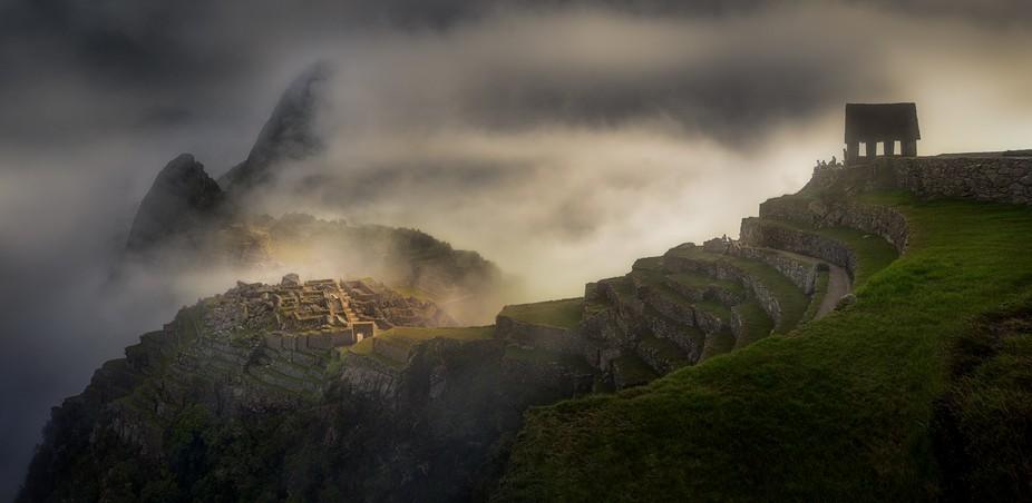 Sunrise over the ancient city of the Incas, Machu Picchu, Peru.