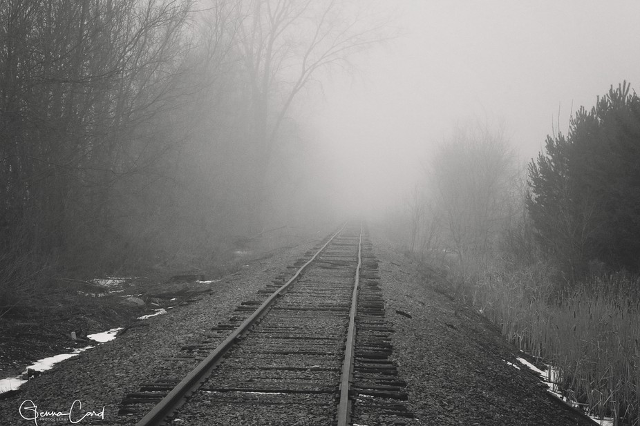 A random railroad I came across in Northern Michigan while driving around in the fog.