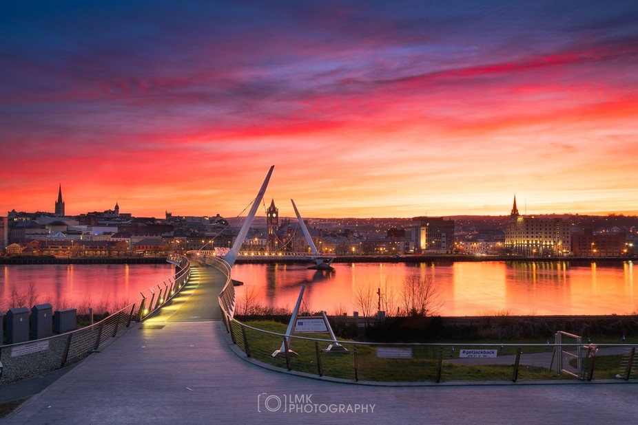 What a sky of Derry's much photographed peace bridge. We have been blessed with some gre...
