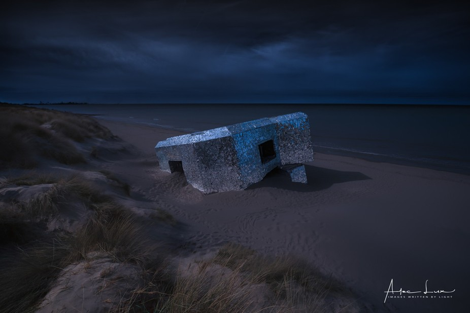 And Here is another shot of the mirror bunker. I thought I had a try with a HDR, simulating the m...